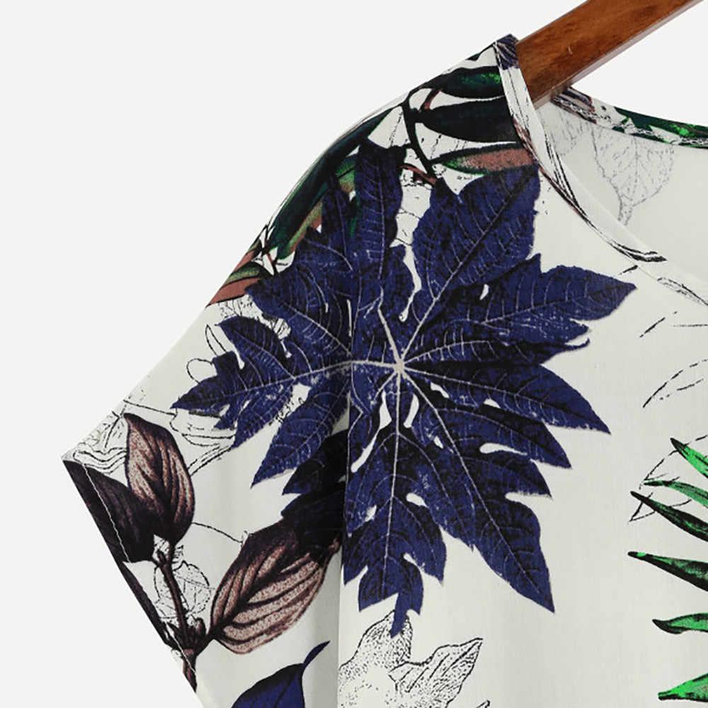 Best vendita Harajuku T Shirt Donna Leaves Stampa Manica Corta Magliette e camicette di estate Traspirante T Shirt Camisetas Mujer stile Coreano футболка
