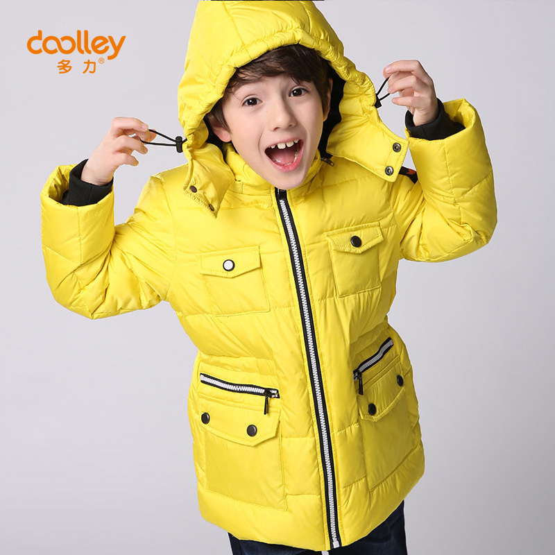 DOOLLEY Christmas New Year Clothing Boy Winter Down Parkas Kids Hooded Coats Jacket Size 110-150 cm 2017 fashion boy winter down jackets children coats warm baby cotton parkas kids outerwears for