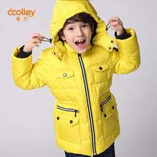 DOOLLEY Christmas New Year Clothing Boy Winter Down Parkas Kids Hooded Coats Jacket Size 110-150 cm