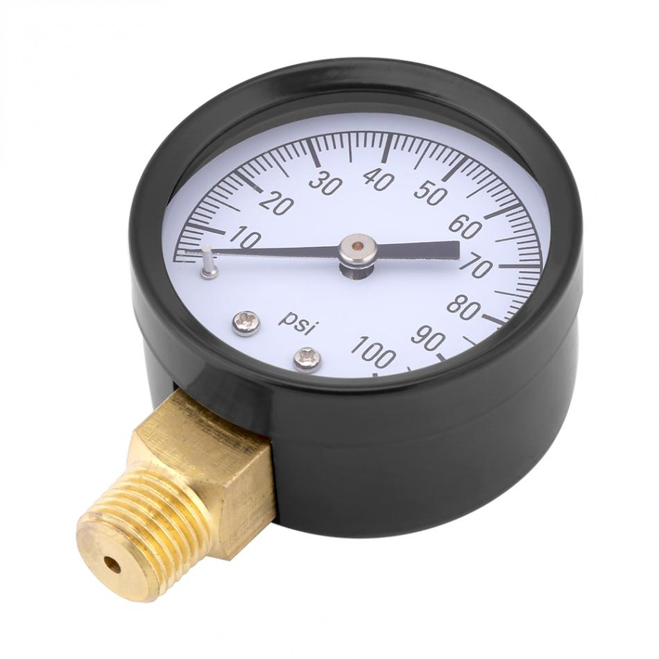 0-100psi 1/4 Bspt Manometer Manometer Wasser Öl Luft Barometer Druck Meter Clear-Cut-Textur