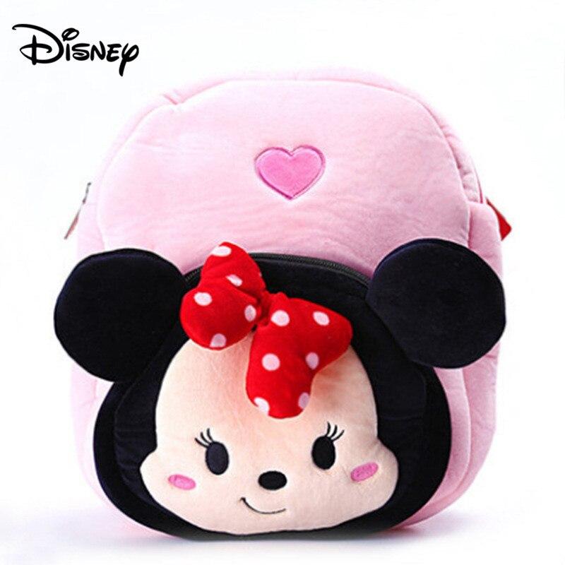Disney милые Мультяшные плюшевые игрушки Микки Маус Минни Винни Пух Фигурки Мстителей Детский Рюкзак Школьная Сумка