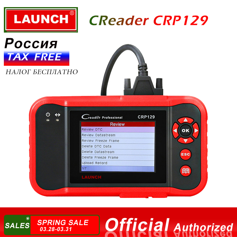 LAUNCH CRP129 OBD2 Scanner Car Diagnostic Tool ABS Airbag Scanner Auto Diagnostics Autoscanner Brake SAS Oil Reset