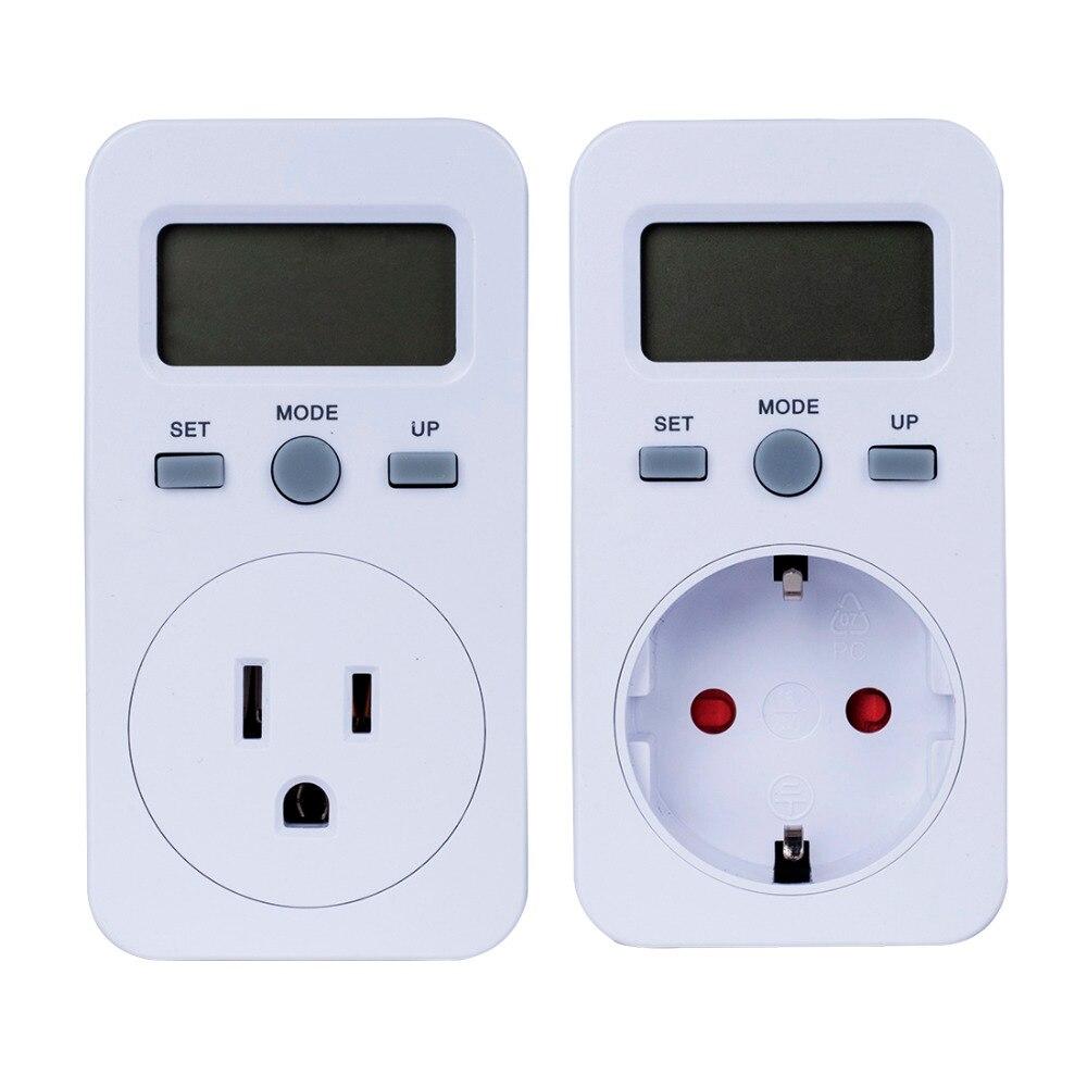 Plug-in Digital Wattmeter LCD Power Energy Monitor Meters Electric Test Meter US UK EU Plug