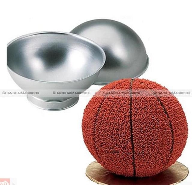 2pcs 6inch Sport Aluminum Ball Sphere Cake Pan Baking 2 Ring Pan Mold Bakeware Kitchen Mould Smb 40116945