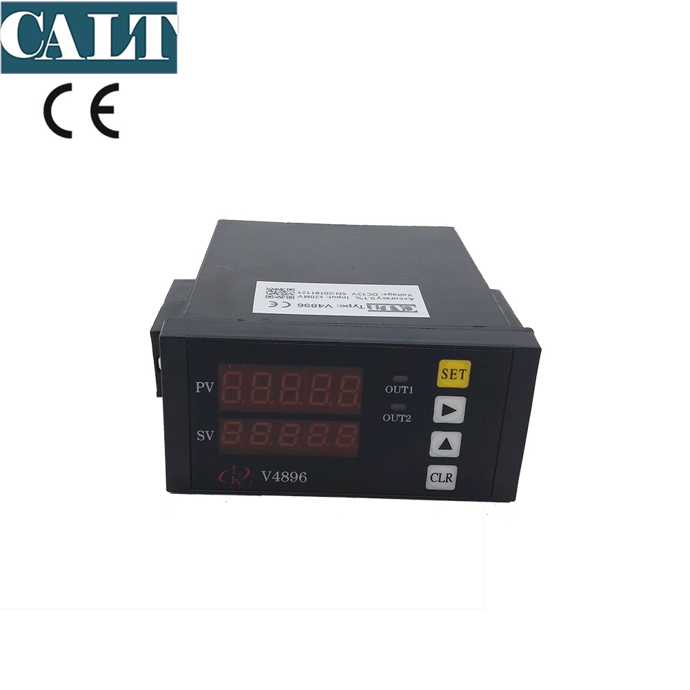 V4896 Load cell weighting indicator 5 digit digital LED display value weight controller with 2 channel