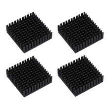 40x40x10mm Black Radiator Aluminum Heatsink Extruded Profile Heat Dissipation Electronic,3d Printer Part (Pack Of 4)
