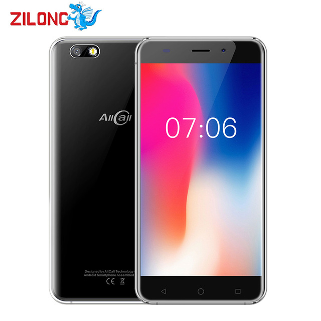 "AllCall Madrid 5.5"" HD 1280*720 MTK6580A Quad Core Smartphone 2600mAh 1GB RAM 8GB 8MP+2MP Dual Camera Android 7.0 Mobile Phone"