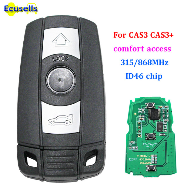 Llave remota inteligente sin llave para BMW 1 3 5 Series X5 X6 2006-2011 315 MHZ 868 MHZ chip ID46 con sistema de acceso cómodo