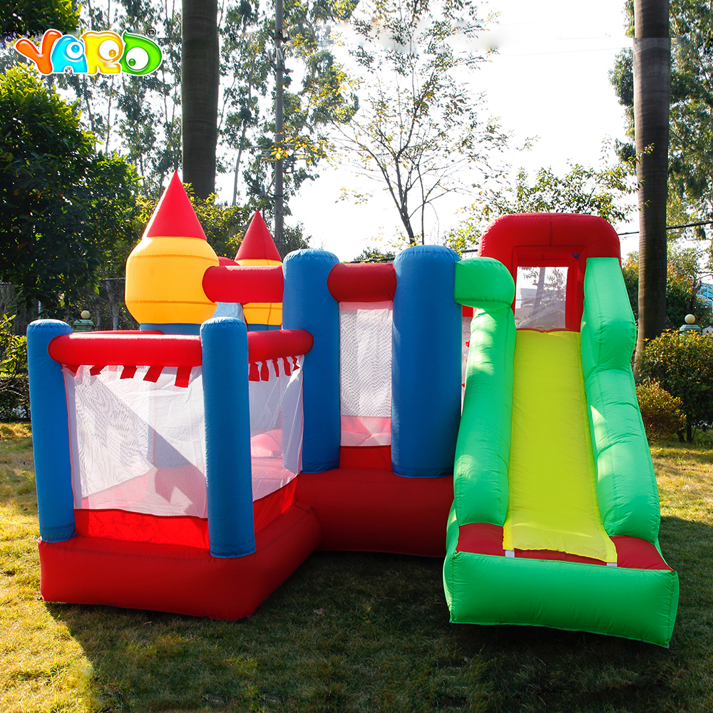 Free Blower PE Balls YARD Inflatable Bouncer Trampoline Games Jumping Castle Slide Home Use Ship Express Christmas Gift