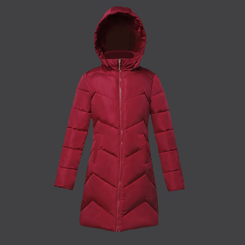 Autumn Winter Female Jacket New 2019 Fashion Winter Coat Women Slim Mid-Long Thick Hooded Winter Jacket Women casaco feminino(China)