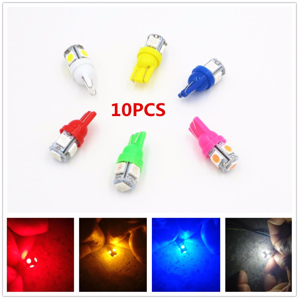 CYAN SOIL BAY 24V T10 5 SMD LED 168 192 W5W Car Truck Interior Side Wedge Tail Light Reading Bulb White Red Blue Dashboard Lamp cyan soil bay car auto t10 25w 30 led smd 4014 lamp parking reverse backup light w16w fog bulb ice blue red amber yellow white