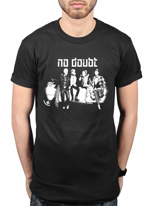 Official No Doubt Bianco E Nero Posa Nuovo T Shirt Rock Fascia Merchandise Gwen