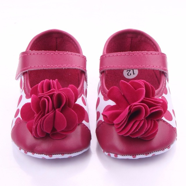 2019 Spring Infant baby Girls Flower shoes Soft Sole Flock First Walkers Crib Shoes 0-18 Months 4