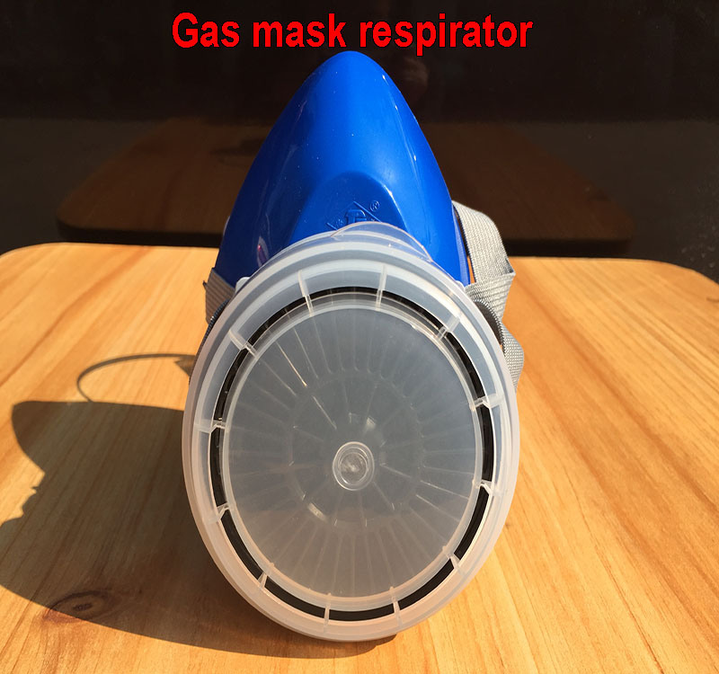 high quality respirator gas mask blue Rubber structure+Activated carbon protective mask Spray paint pesticide filter mask high quality carbon filter mask silicone multifunction respirator gas mask paint spray pesticides industrial safety protect mask