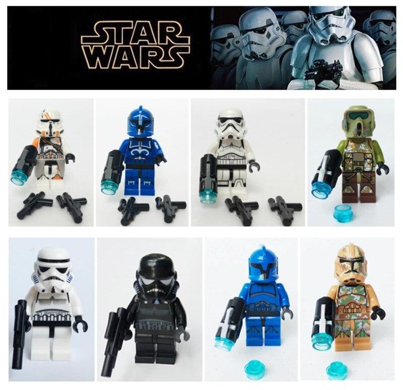 Lego Star Wars Senate Commando Troopers and Captain