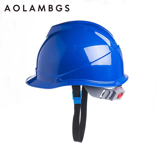 Proteção Da Cabeça Capacete de segurança de Construção Anti-Colisão Chapéu Tampas de Trabalho Duro À Prova de Choque ABS Material de Engenharia Industrial