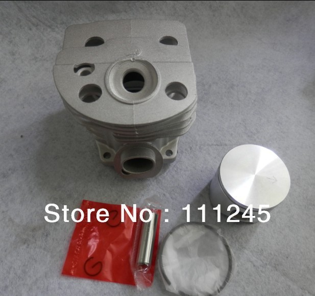 CYLINDER ASSY 46MM FOR CHAINSAW 55 ENGINE FREE POSTAGE CHEAP CHAIN SAW  ZYLINDER  PISTON KIT PARTS REPL. P/N 503 16 91 71 manufacturers 5200 chainsaw cylinder assy cylinder kit 45 2mm parts for chain saw 1e45f on sale