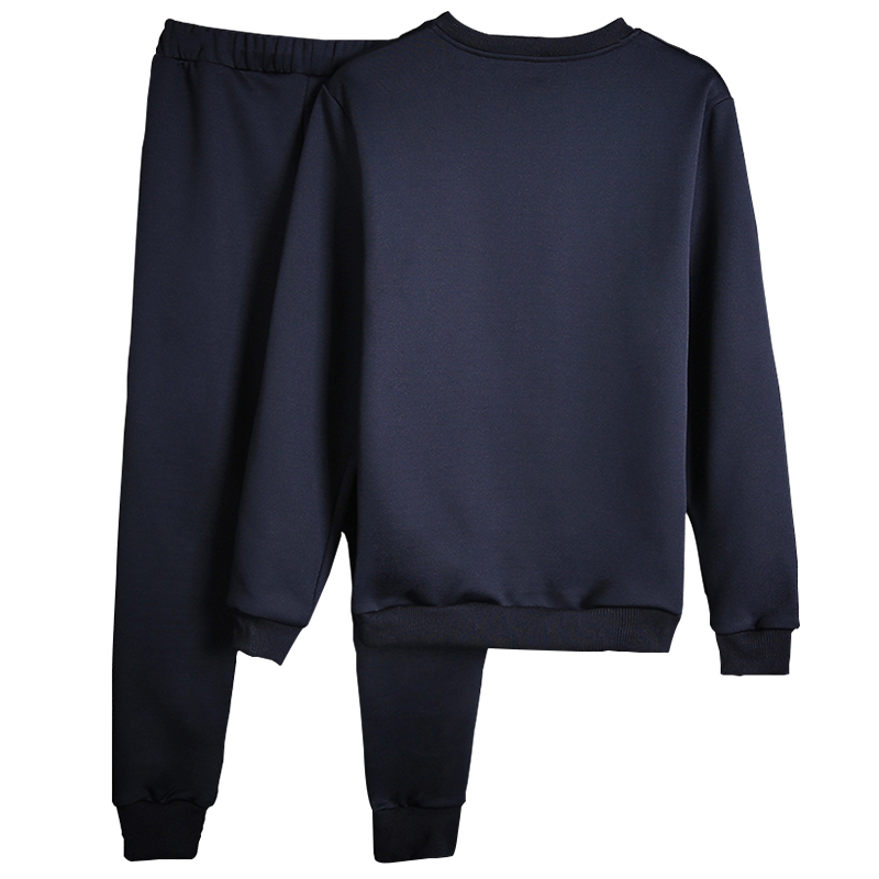 Men Sportswear Sets O-neck Tracksuit Sweatshirt With Joggers Pants Letter Casual 2 Pieces Sets Men Patchwork Spring Hoodie #3