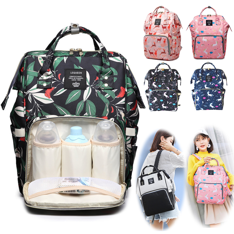 Waterproof Diaper Bag Large Capacity Travel Unicorn Backpack Nursing Bag For Baby Care Mommy Bag Handbags For Moms Dropship
