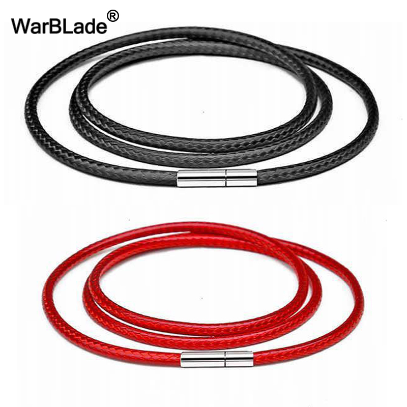 40-80cm 1-3mm Black Necklace Cord Leather Cord Wax Rope Chain 316L Stainless Steel Tube Clasp DIY Necklaces Jewelry Accessories40-80cm 1-3mm Black Necklace Cord Leather Cord Wax Rope Chain 316L Stainless Steel Tube Clasp DIY Necklaces Jewelry Accessories