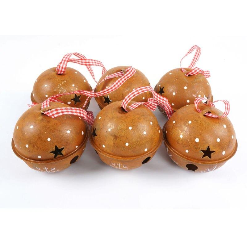Decoración de navidad para el hogar 6 unids proceso de moho campana - Para fiestas y celebraciones - foto 2