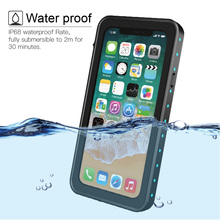 For iPhone X Waterproof case IP68 life water Shock Dirt Snow Proof Protection for Apple iPhone X With Touch ID Cover New for iphone xs max ip68 waterproof case water shock dirt snow proof protection for iphone xs with touch id case cover