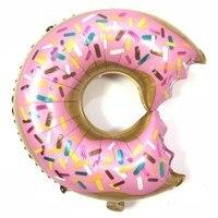 Donuts Lollipop Birthday Party Balloon Kits, Sweet Boys Girls Pink Blue Rainbow Sprinkle Doughnut Foil Mylar Balloon