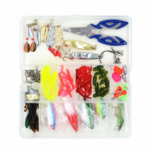 100 pcs/Box Complete Fishing Accessories Tackle Set Mixed Style Fishing Lures Hooks Sinker Beads Trace Wire Connector Scissors