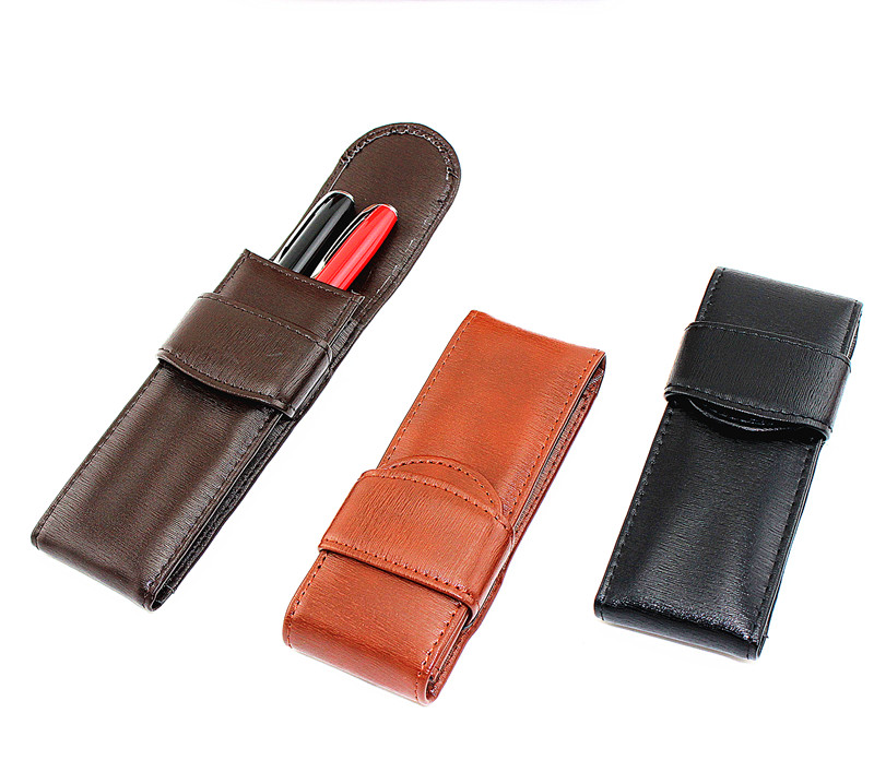 Stationery Leather Pencil Case School Pencil Bag Writing Pencil Case Office Supplies Pen Bag Students Pencils