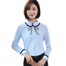 New autumn fashion women clothes slim shirt OL formal long sleeve chiffon blouses elegant office ladies plus size work wear tops