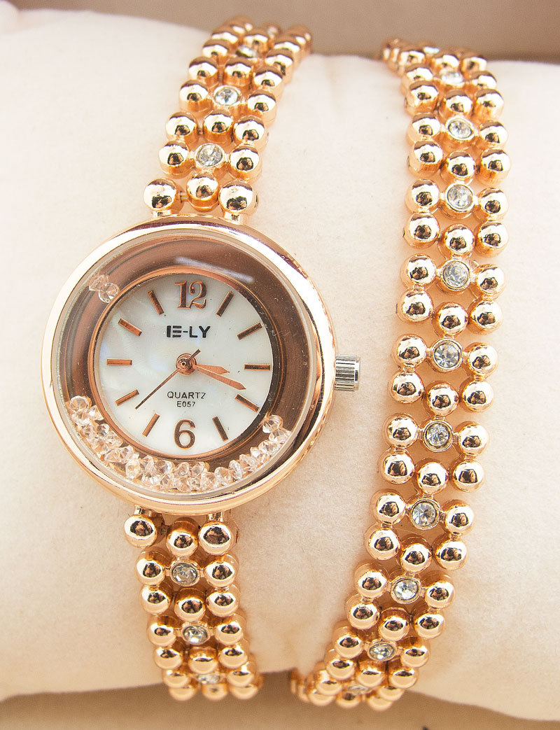 Luxury Long Chain Bracelet Watch Women Ladies Quicksand Rhinestone Dress Quartz Wrist Watch E057 fashion quicksand artificial diamond women watch
