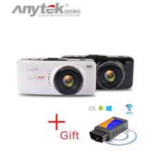 Original Anytek AT66A Car DVR full HD Novatek 96650 Car Camera 170Degree 6G Lens Night Vision