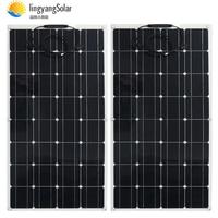 200w Solar Panel 2pcs 100w 12V 24V Semi flexible solar panel 32pcs monocrystalline solar cell 300w 400w solar charger