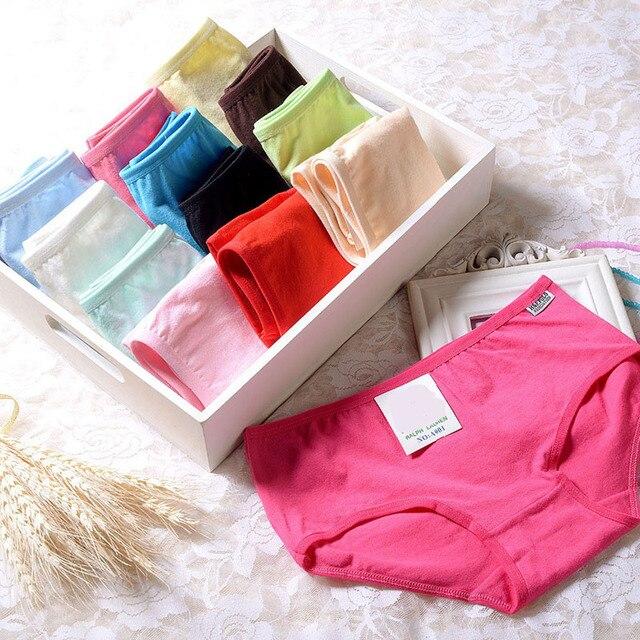 18622105fdf BK Women Plus Size Underwear Women Sexy Briefs 100% Cotton Panties Candy  Colors Female Underpants