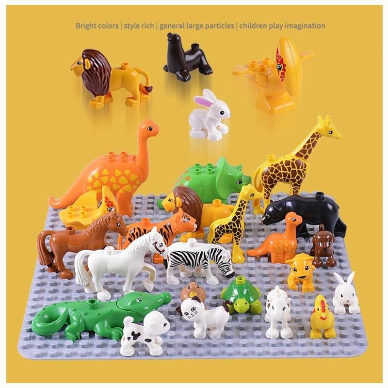 Animal Series Model Figures Big Building Blocks Animals Educational Toys for Kids Children Gift Compatible Duploed Kids Gifts 2