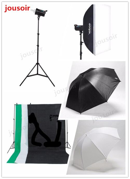 Godox 900 W Kit d'éclairage Flash Studio 3X300 W lampe stroboscopique photographie & Softbox & support de lumière Kit Portrait CD50