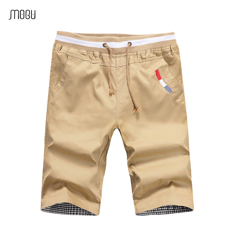 MOGU Man Colorful Shorts 2018 Summer New Casual Vogue Cargo Shorts For Men Softness Cotton Drawstring Overalls Asian Size Shorts