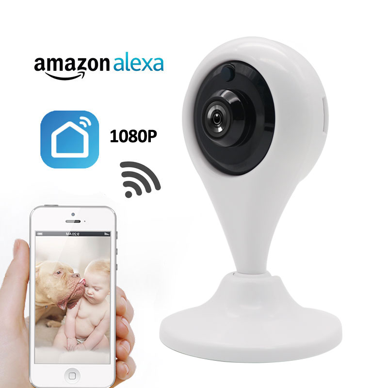 US $29 25 35% OFF|REDEAGLE HD 1080P WiFi Security Camera 2MP Wireless Smart  Living CCTV Camera Support Amazon Alexa Echo Show Google Home-in