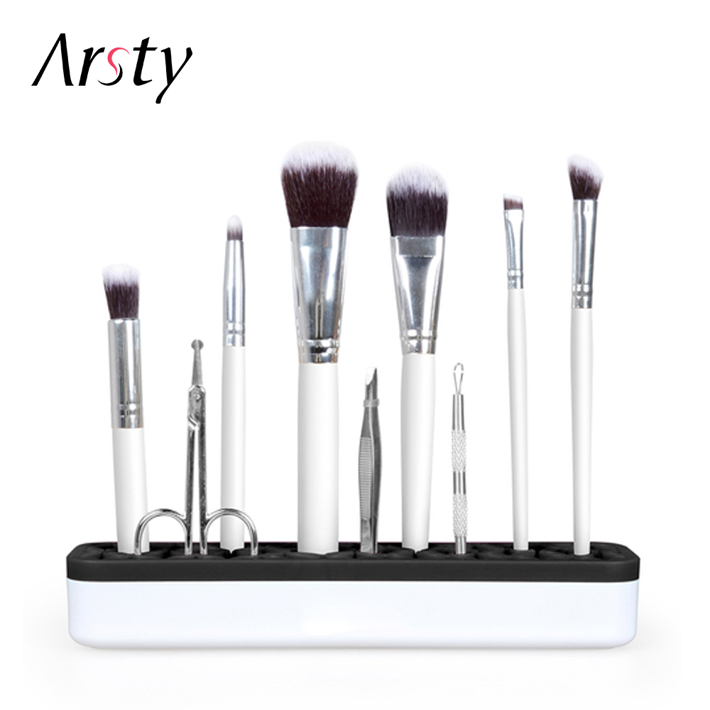 Arsty Magic Silicone Makeup Brushes Holder Box Makeup Brush Rack Holder Cosmetic Tool 3 Colors Free