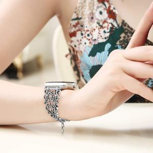 Image 5 - 여성 팔찌 밴드 시계 밴드 38mm/42mm 스테인레스 스틸 금속 다이아몬드 스트랩 iwatch 시리즈 5 4 3 2 1