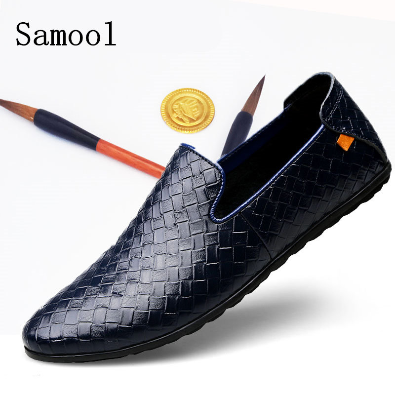 2017 Autumn Winter High Quality Men Shoes Braid Leather Casual Driving Oxfords Shoes Men Loafers Moccasins Shoes for Men Flats dxkzmcm men shoes casual driving oxfords shoes men loafers moccasins italian shoes for men flats