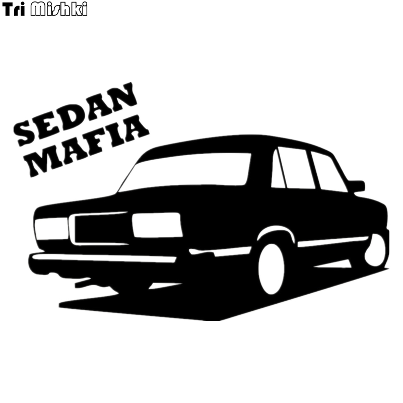Tri Mishki HZX006 12.7*20cm Sedan Mafia For Vaz Lada 2107 Car Sticker Auto Vinyl Decal Car Sticker Reflective