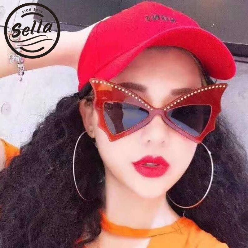 Sella nuevas gafas de sol de la mariposa de la manera estilo europeo Venta caliente Oversized mujeres gafas de sol personalidad Sexy señoras gafas de sol