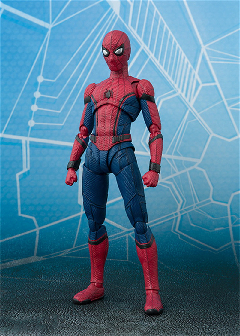 SHF S.H.Figuarts Spiderman Homecoming PVC Action Figure Collectible Model Toy 15cm cartoon cute pikachu bobble head car decoration doll pvc action figure collectible model toy 7 styles 15cm