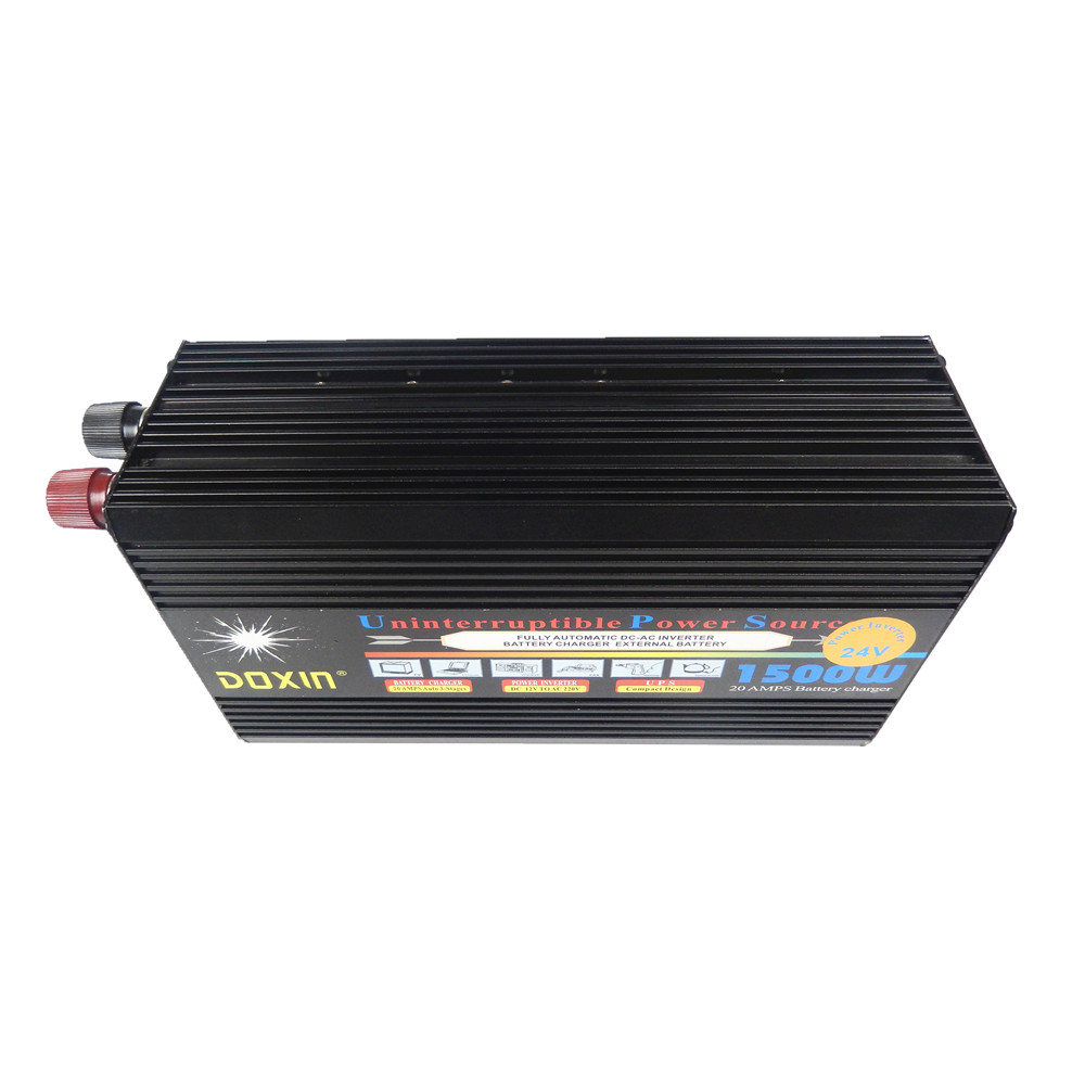 DC12V input to AC220V output 1500W  UPS Modified Sine Wave power inverter Power Supply inversor with battery charge function solar power on grid tie mini 300w inverter with mppt funciton dc 10 8 30v input to ac output no extra shipping fee