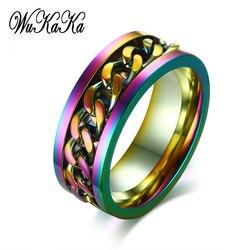 Кольцо гордости с изображением ЛГБТ-радуги, цепочка из нержавеющей стали для геев, кольцо гордости для мужчин, мальчиков, ЛГБТ, настоящая лю...
