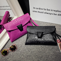 2017 моды Крокодил картина маленькая сумка конверт сумка женщин сцепления плеча сумки женская сумка яркий цвет с замком