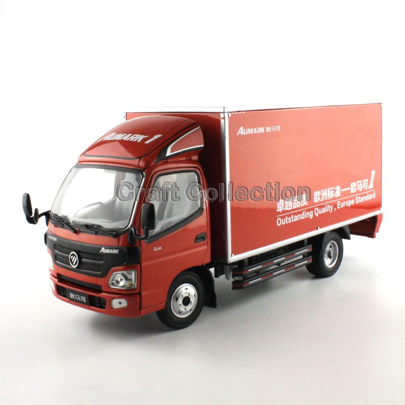 * 1:24 China Foton Aumark Cargo Truck Model (Red) Diecast Toy Miniatures Collection