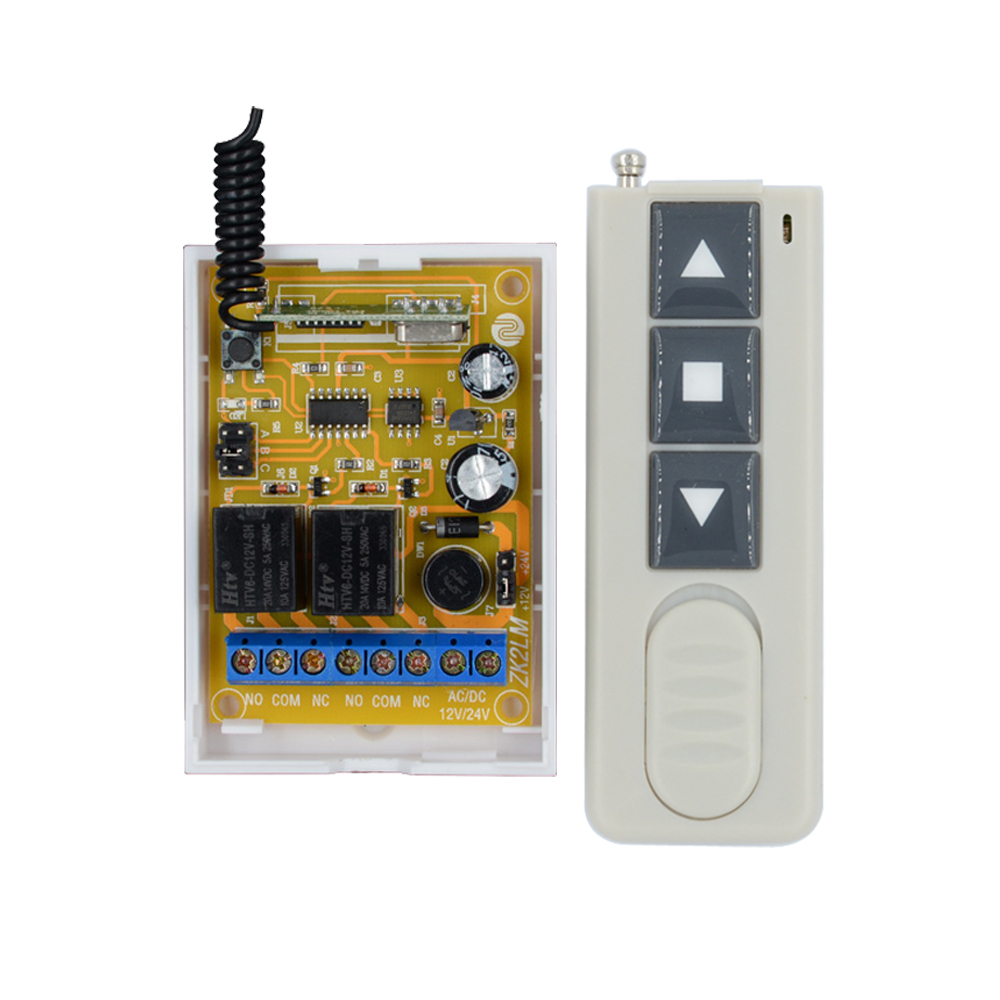 цены DC 12V 24V Wireless Remote Control Switch Motor Reversing Controller Switch Output Intelligent Momentary Toggle Latched