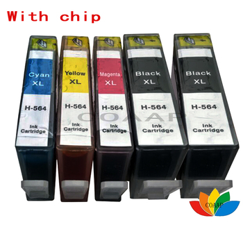 5x Compatible Ink Cartridge for HP 564 HP564XL Replacement hp 5510 6510 5520 B111a B109a C5383 D5400 B209a 5515 7515 Printer цена 2017